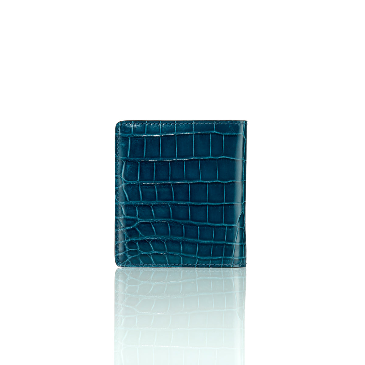 Bi-Fold Wallet - Coastal Blue Alligator