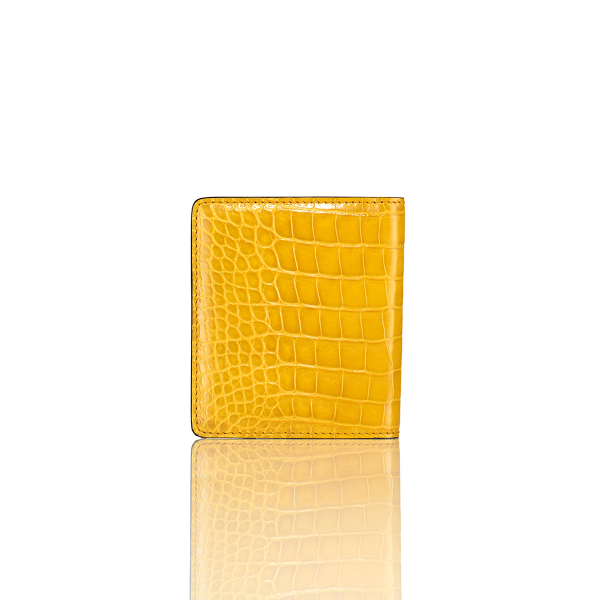 Bi-Fold Wallet - Lemon Alligator