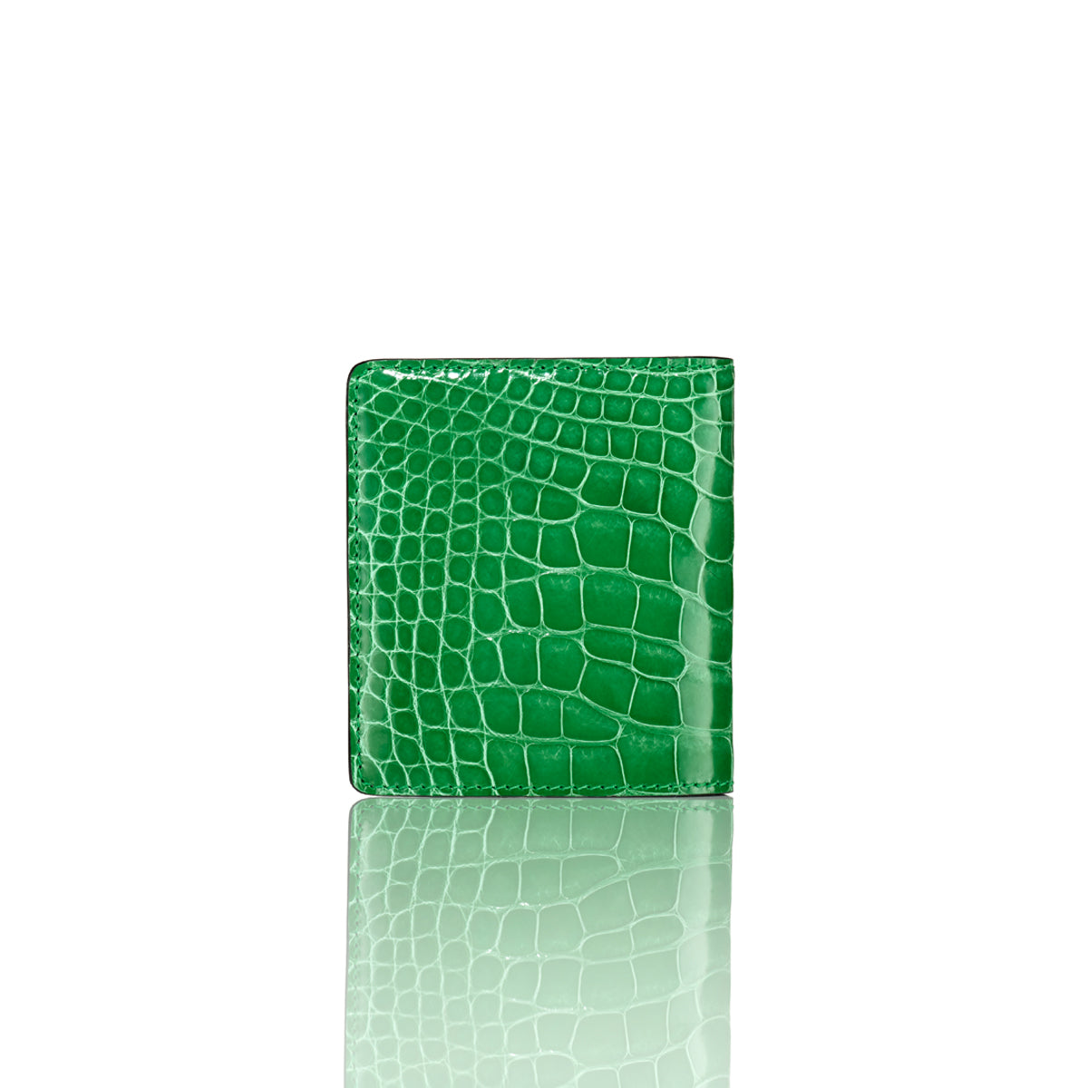 Bi-Fold Wallet - Lime Alligator