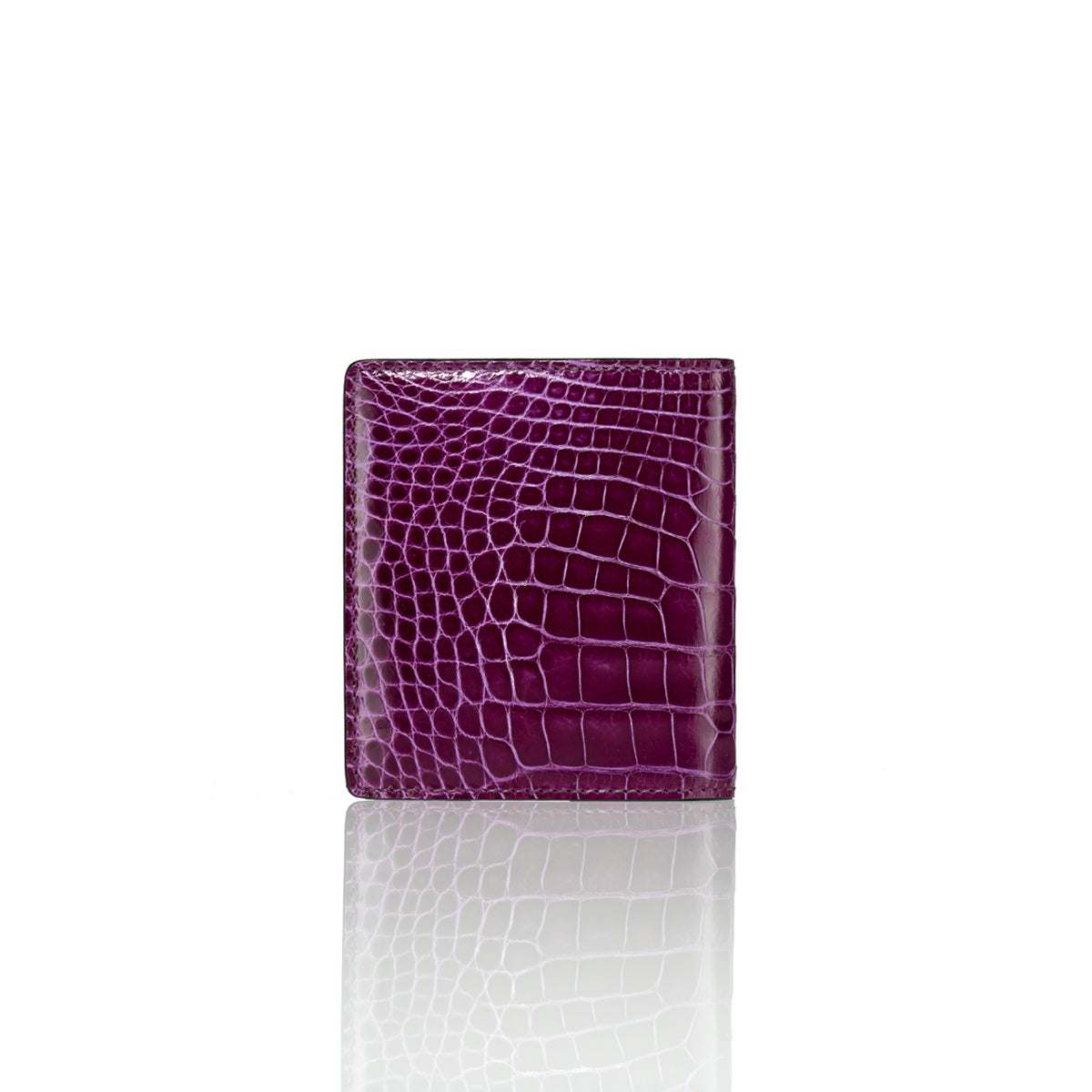 Bi-Fold Wallet - Purple Alligator
