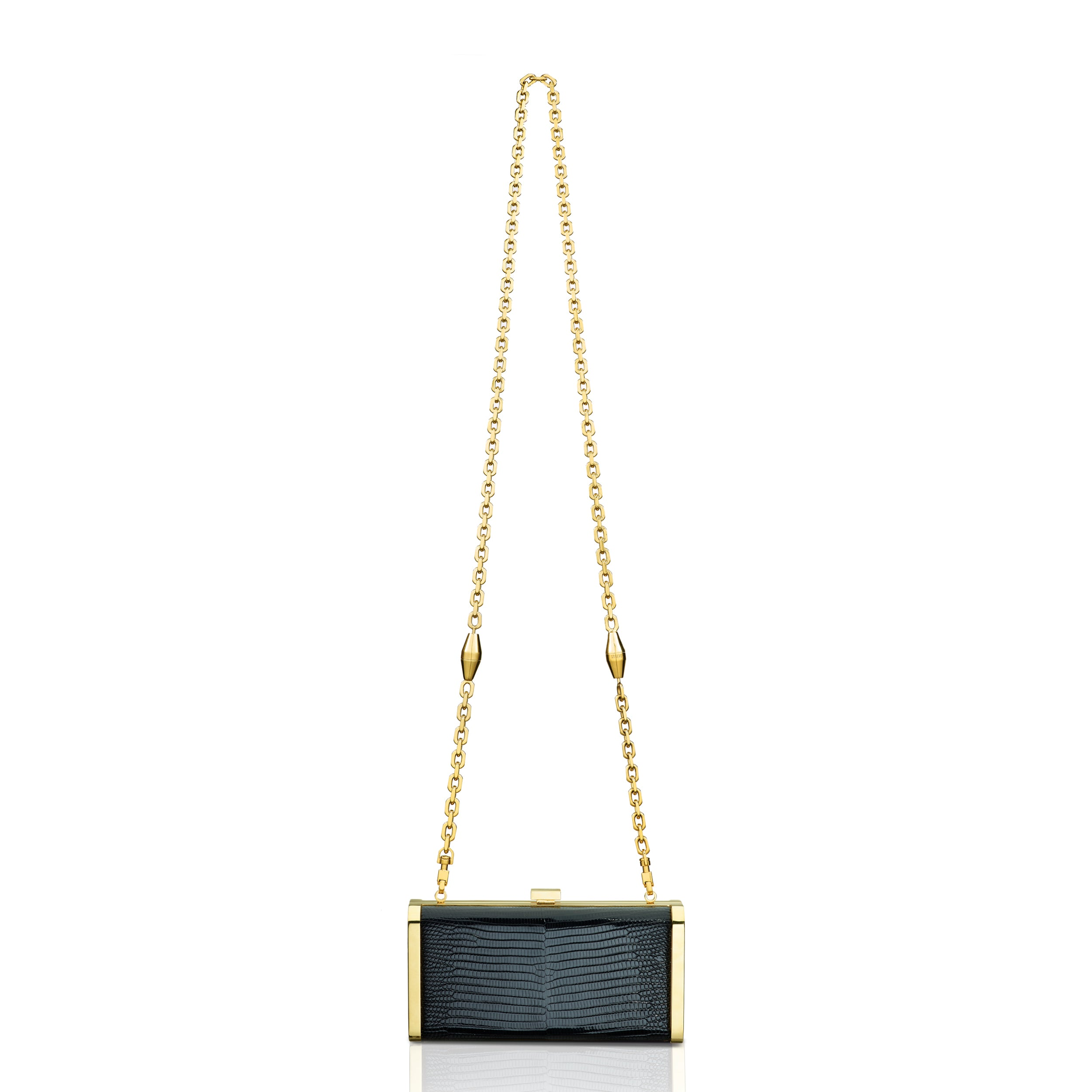 Square Clutch - Black Lizard