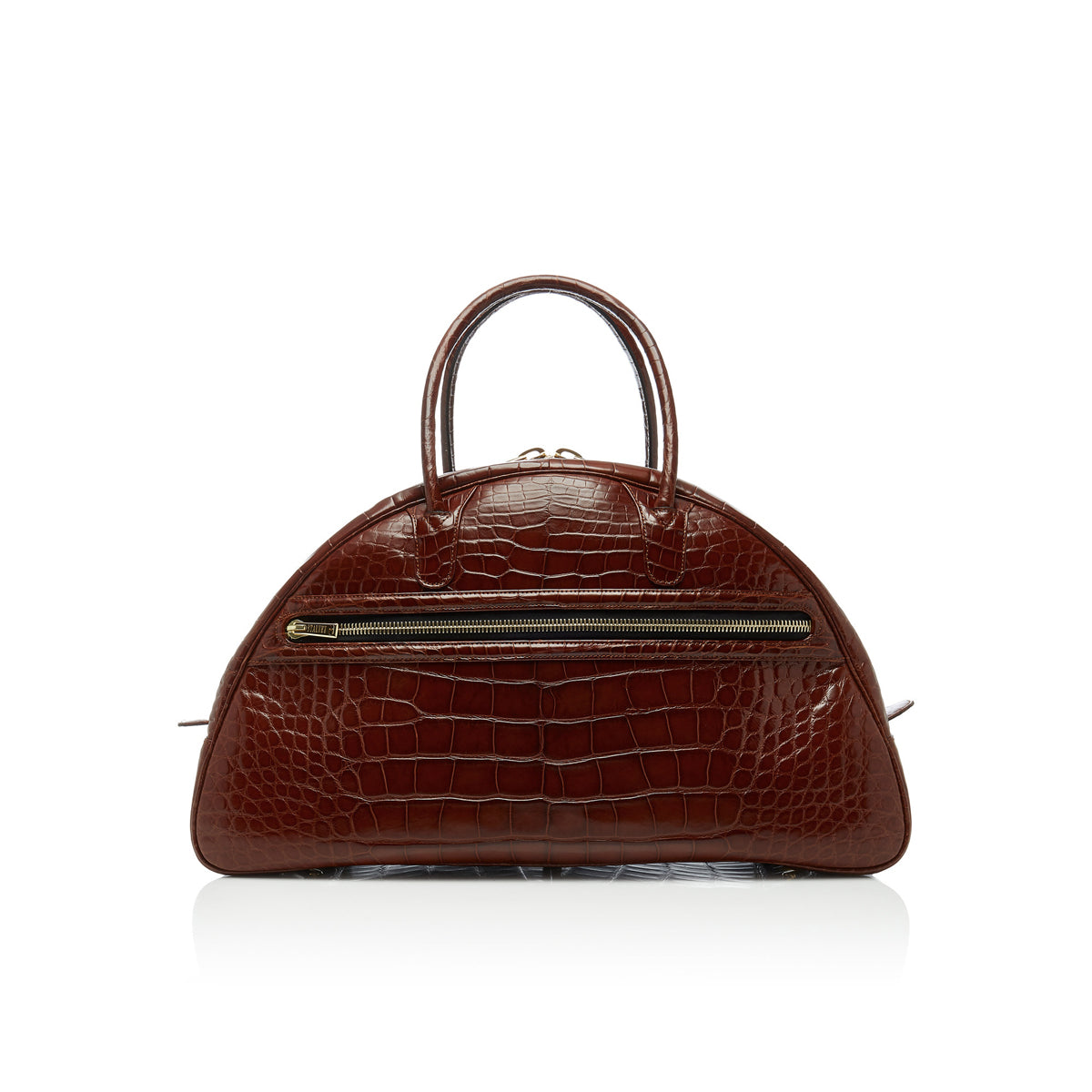 Canovas Gym Bag - Brown Alligator