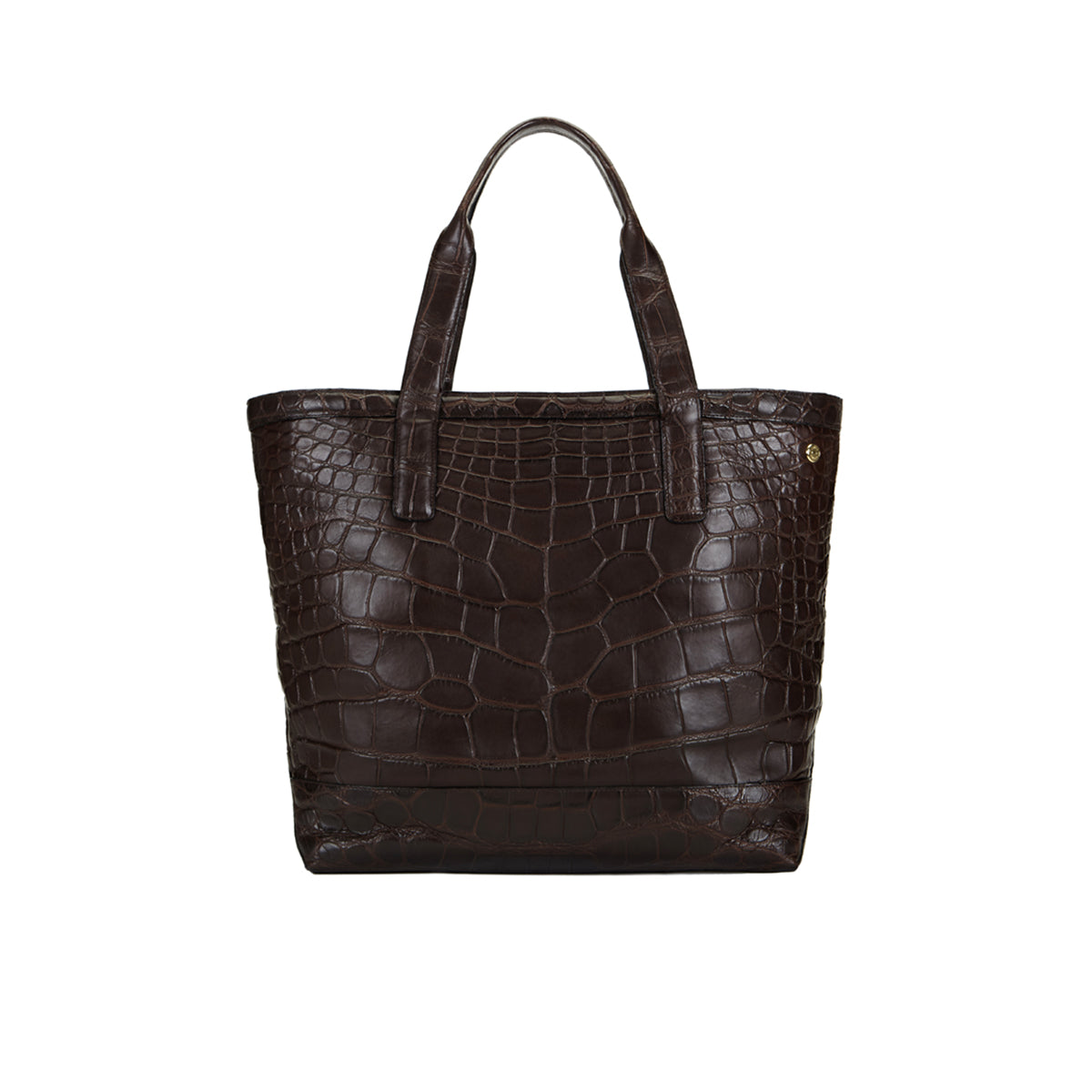 Carreon Soft Open Tote - Brown Alligator