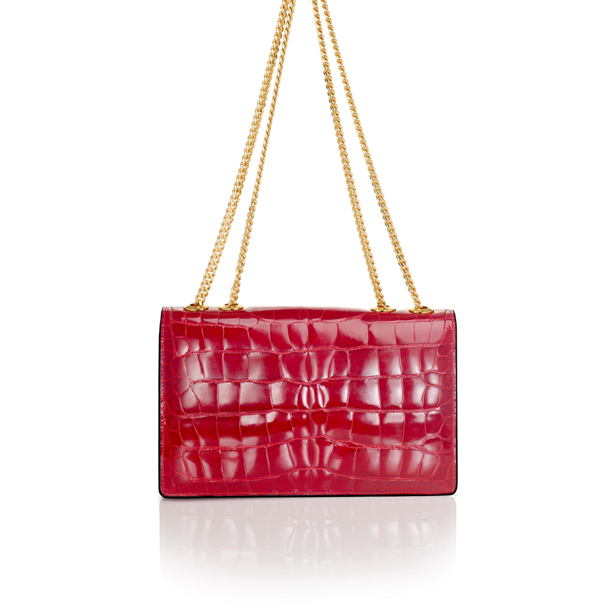 Shoulder Bag 2.5 Small - Cerise Alligator