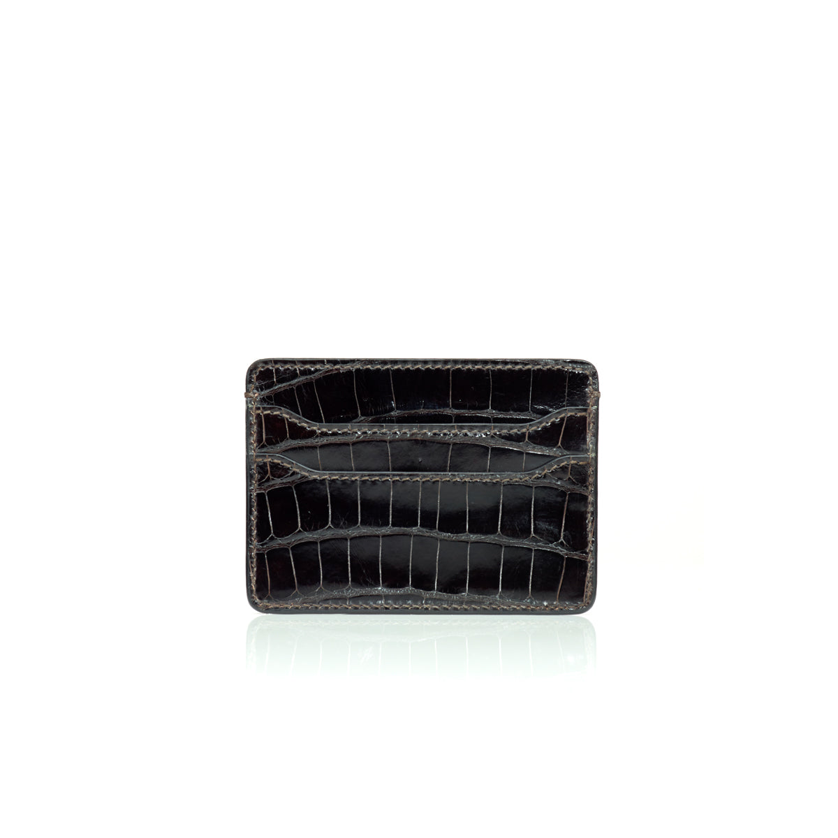 Credit Card Case - Black Alligator