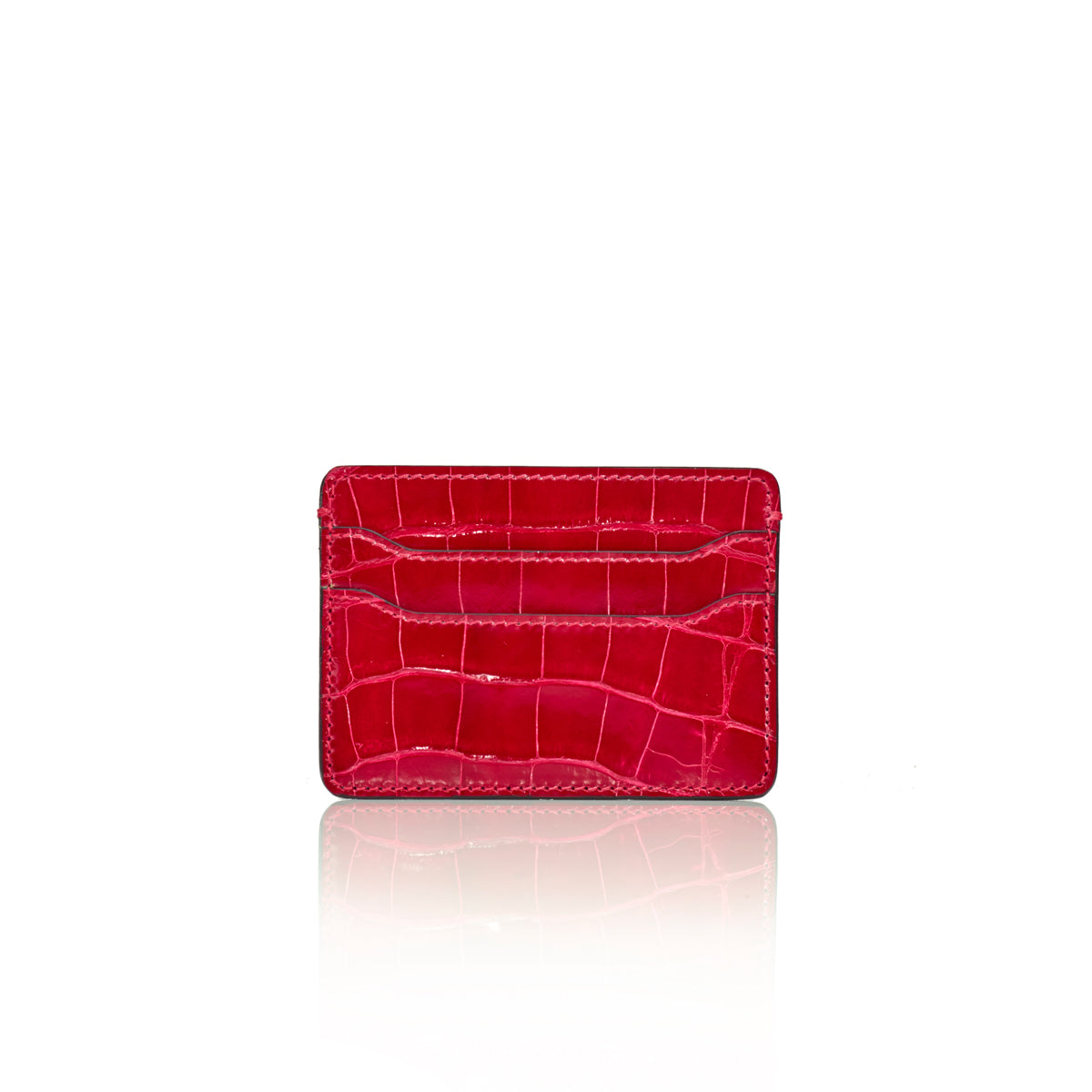 Credit Card Case - Cerise Alligator
