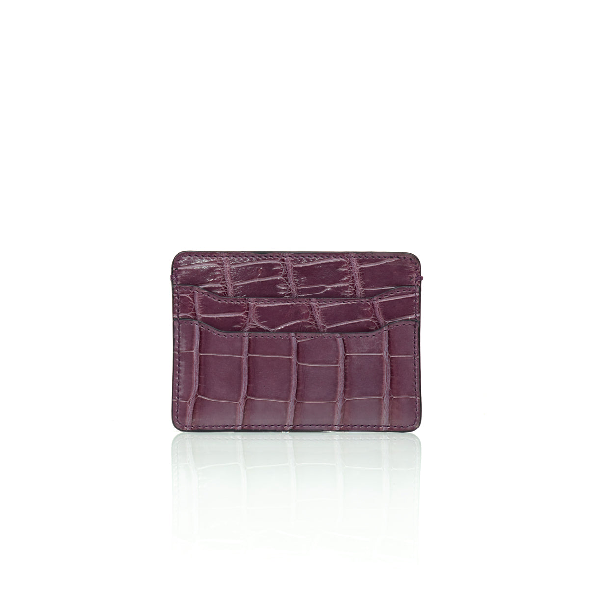 Credit Card Case - Purple Alligator