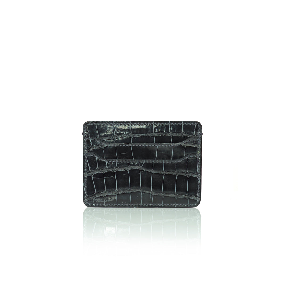 Credit Card Case - Smokey Grey Alligator