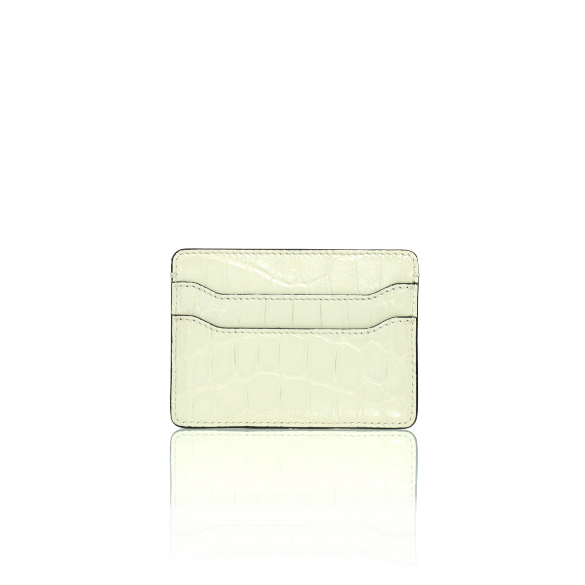 Credit Card Case - White Alligator