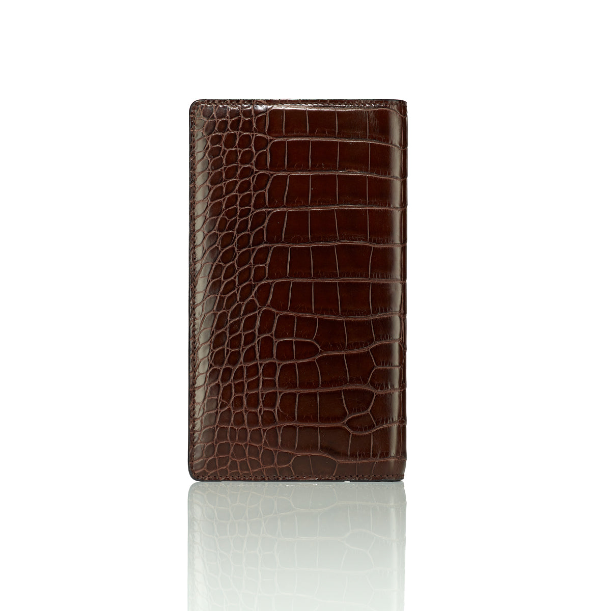 Elongated Wallet - Brown Alligator