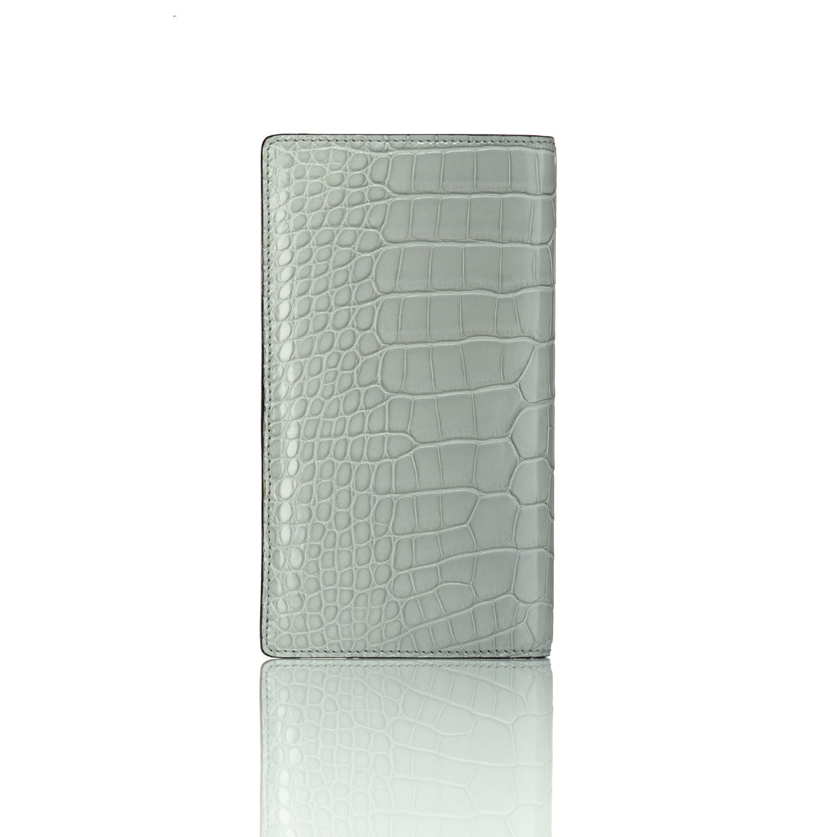 Elongated Wallet - Grey Alligator