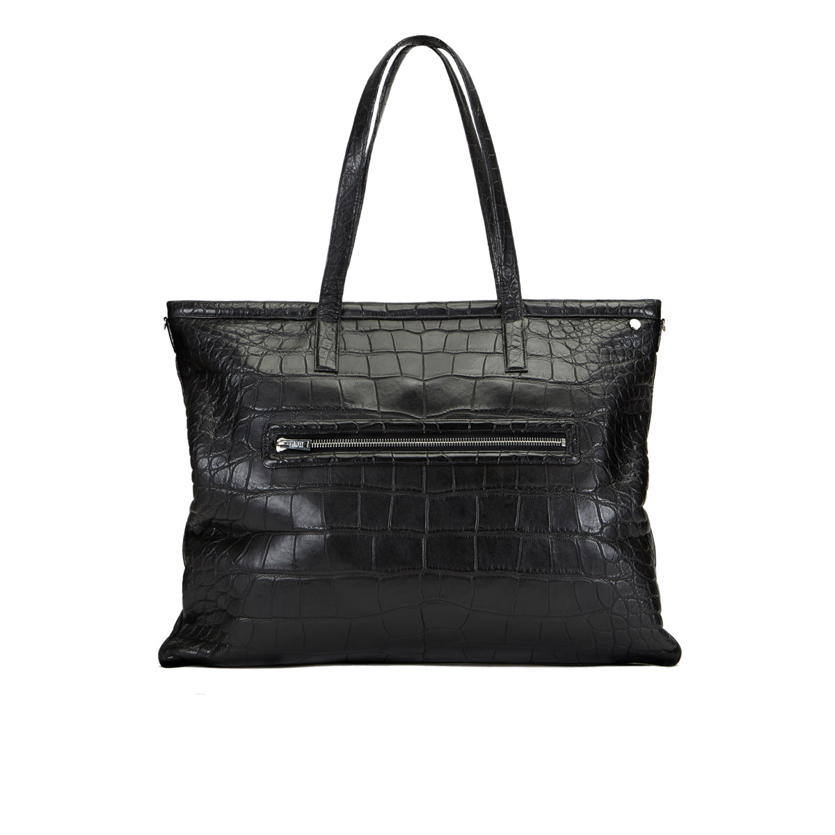 Minol Shopper Tote - Black Alligator