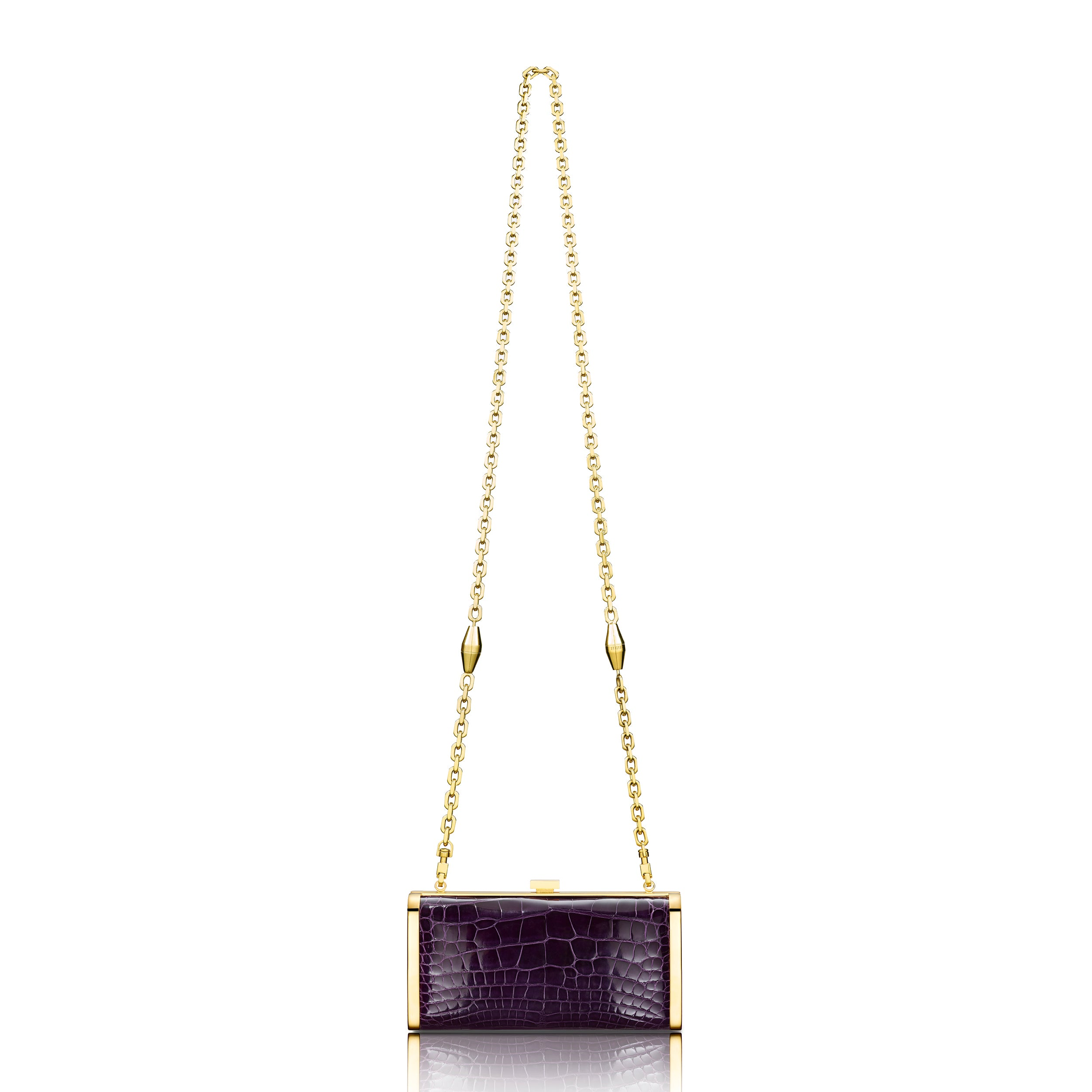 Square Clutch - Royal Purple Alligator