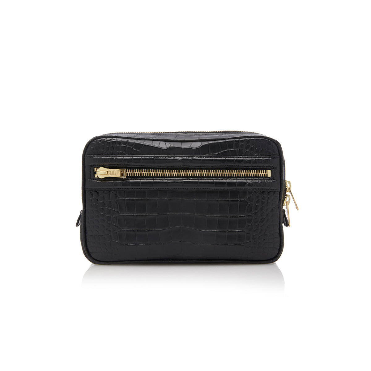 Small Toiletry Case - Black Alligator