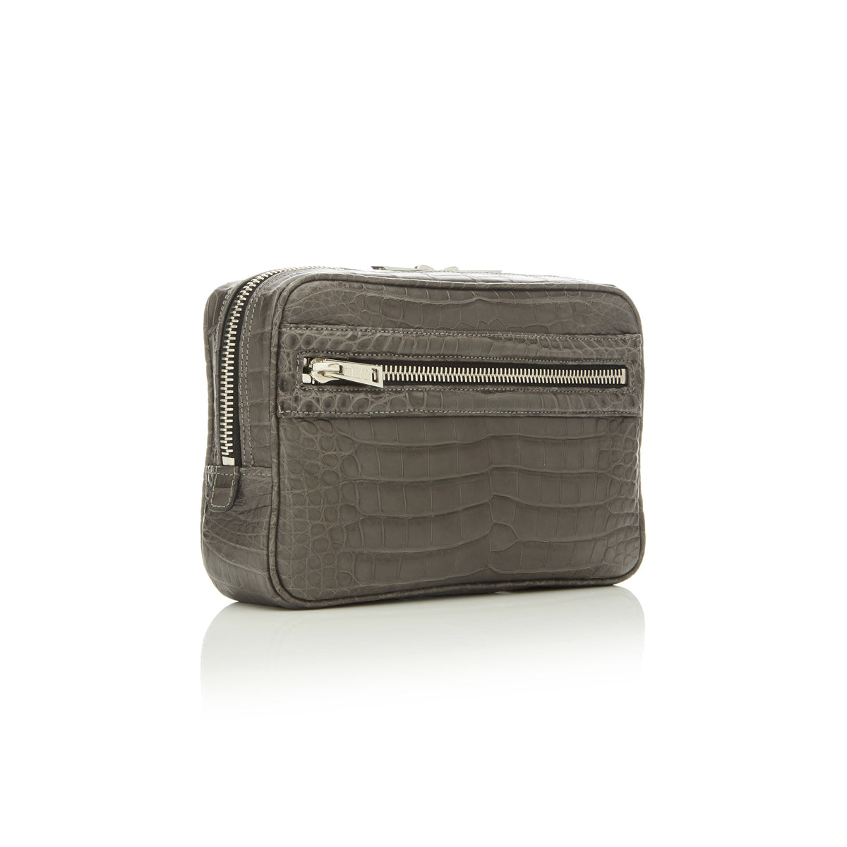 Small Toiletry Case - Grey Alligator