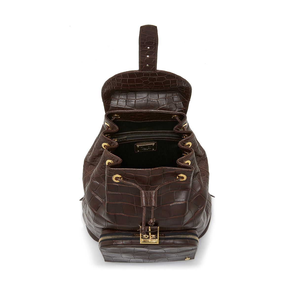 Sun Backpack - Brown Alligator