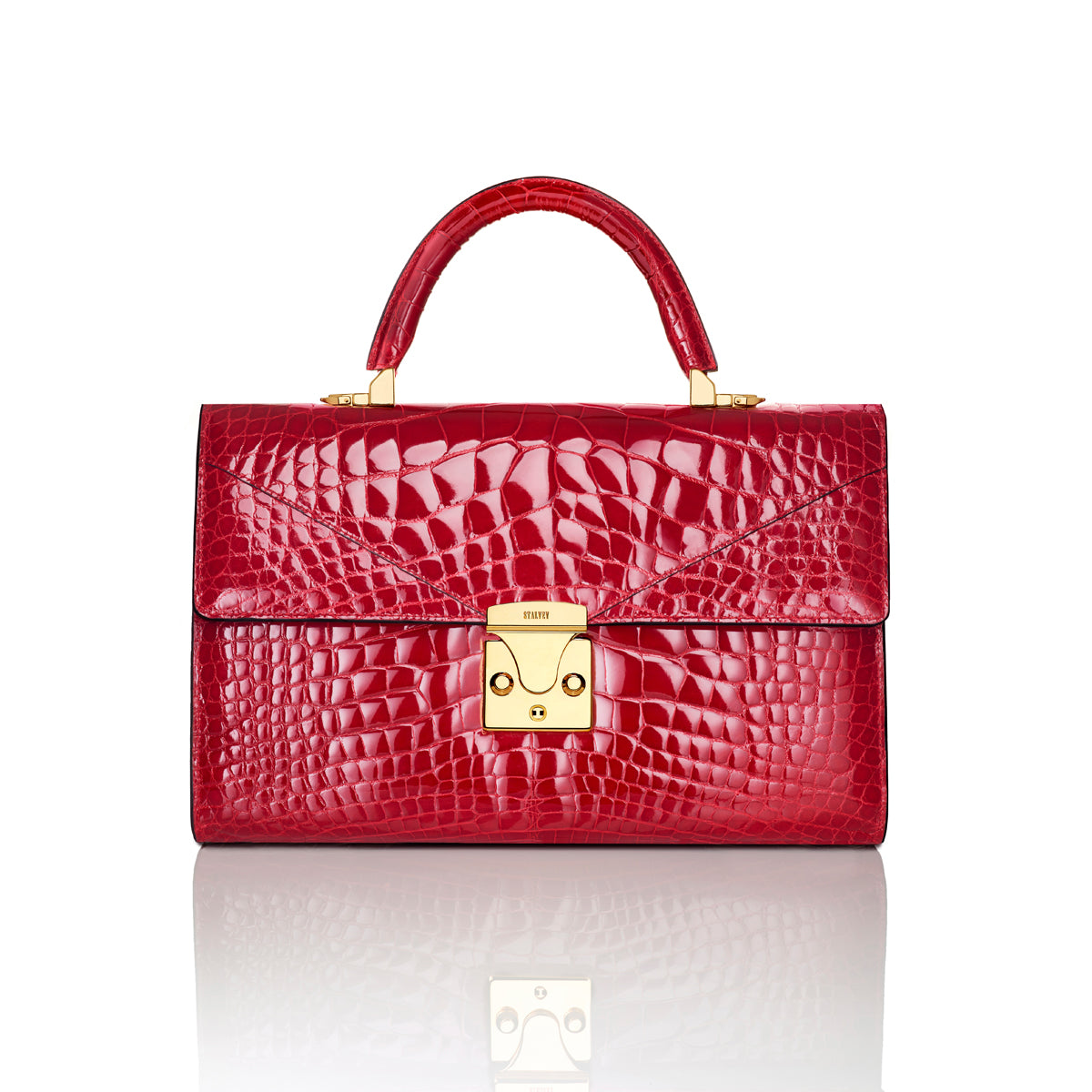 Top Handle 3.0 Medium - Cerise Alligator