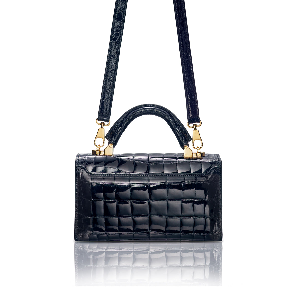 Top Handle 2.0 Mini - Black Alligator