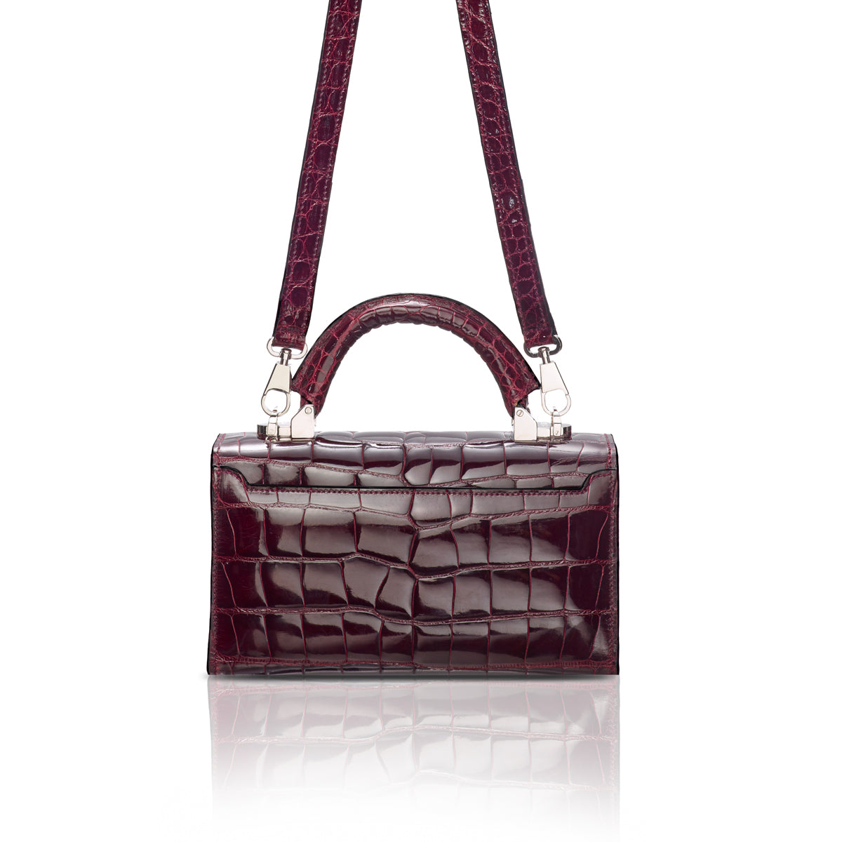 Top Handle 2.0 Mini - Burgundy Alligator