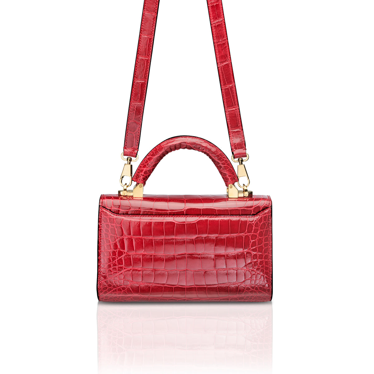 Top Handle 2.0 Mini - Cerise Alligator