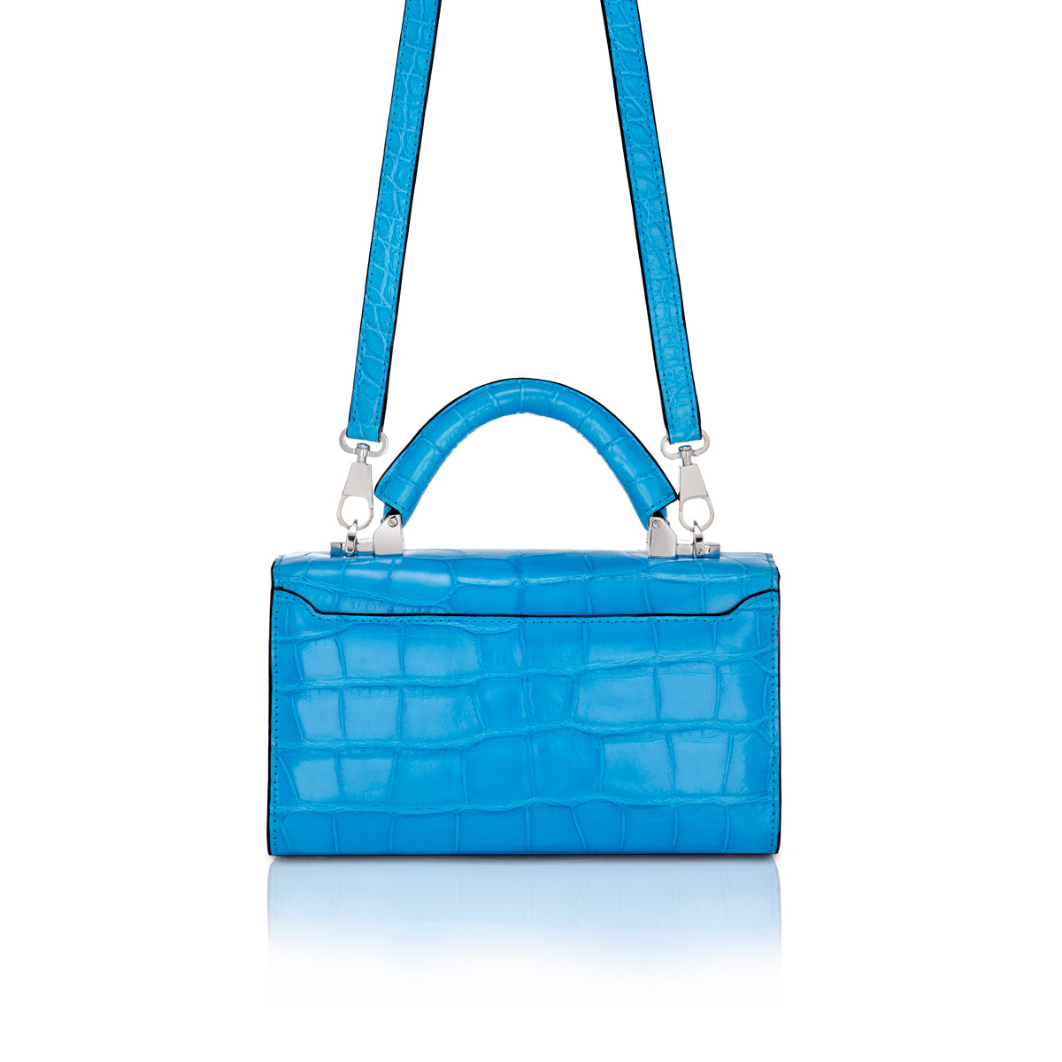 Top Handle 2.0 Mini - Electric Blue Alligator