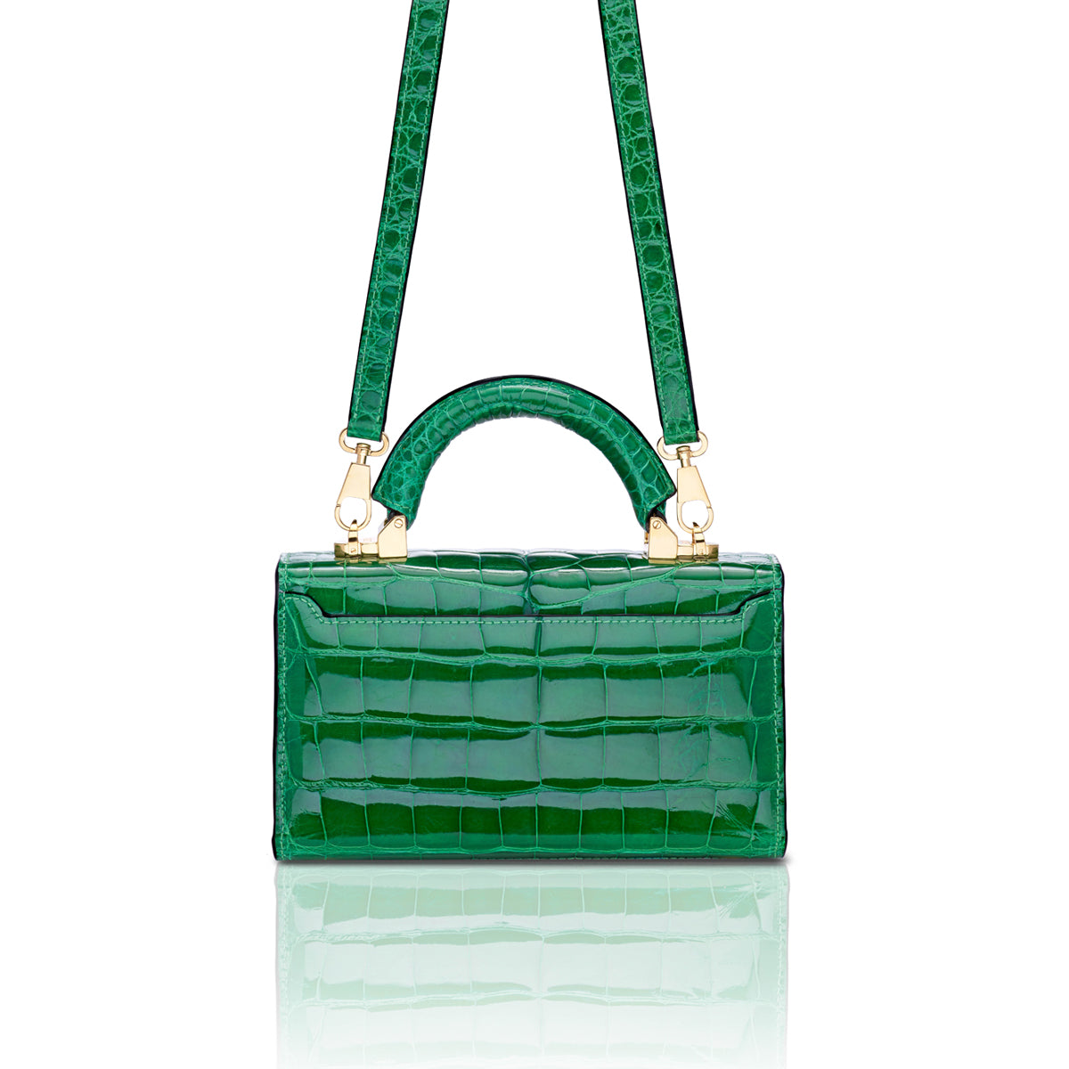 Top Handle 2.0 Mini - Grass Green Alligator