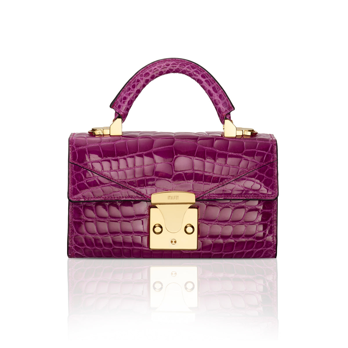 Top Handle 2.0 Mini - Magenta Alligator