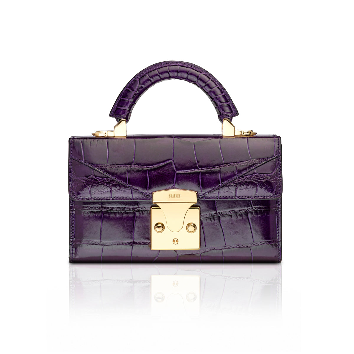 Top Handle 2.0 Mini - Plum Alligator
