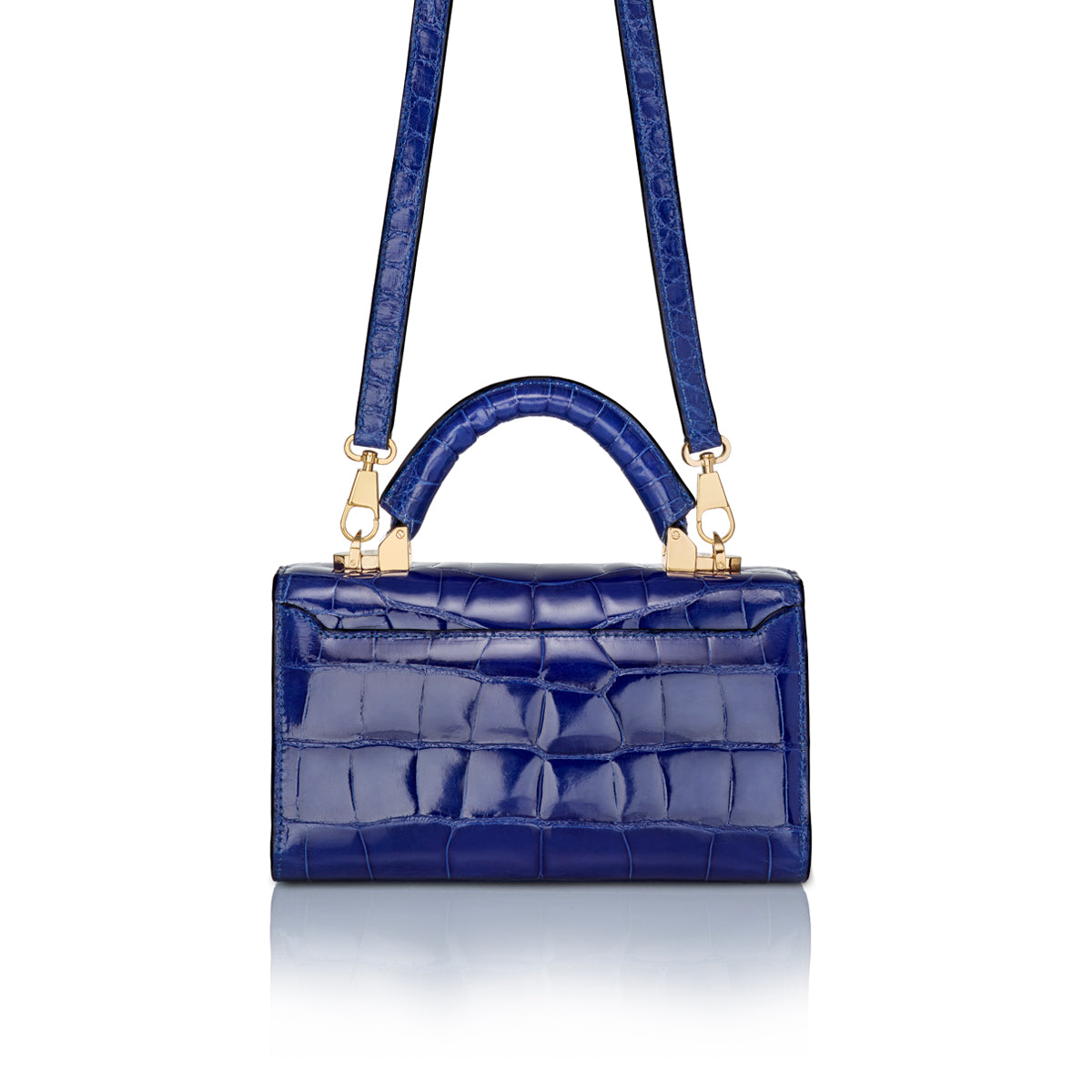 Top Handle 2.0 Mini - Royal Blue Alligator