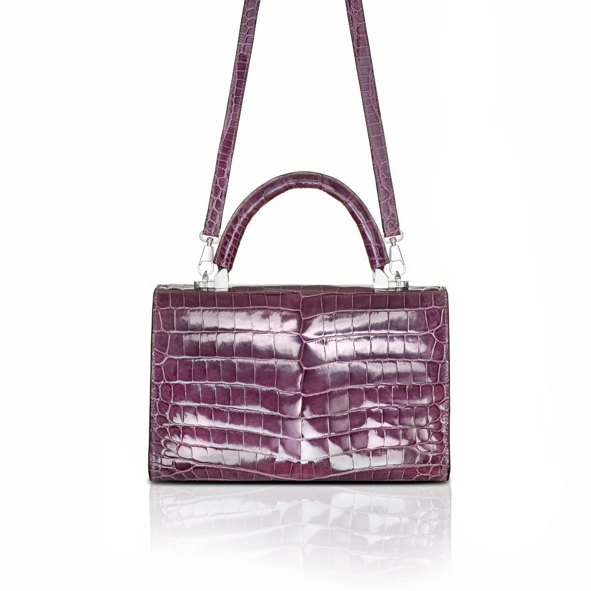 Top Handle 2.5 Small - Lilac Alligator