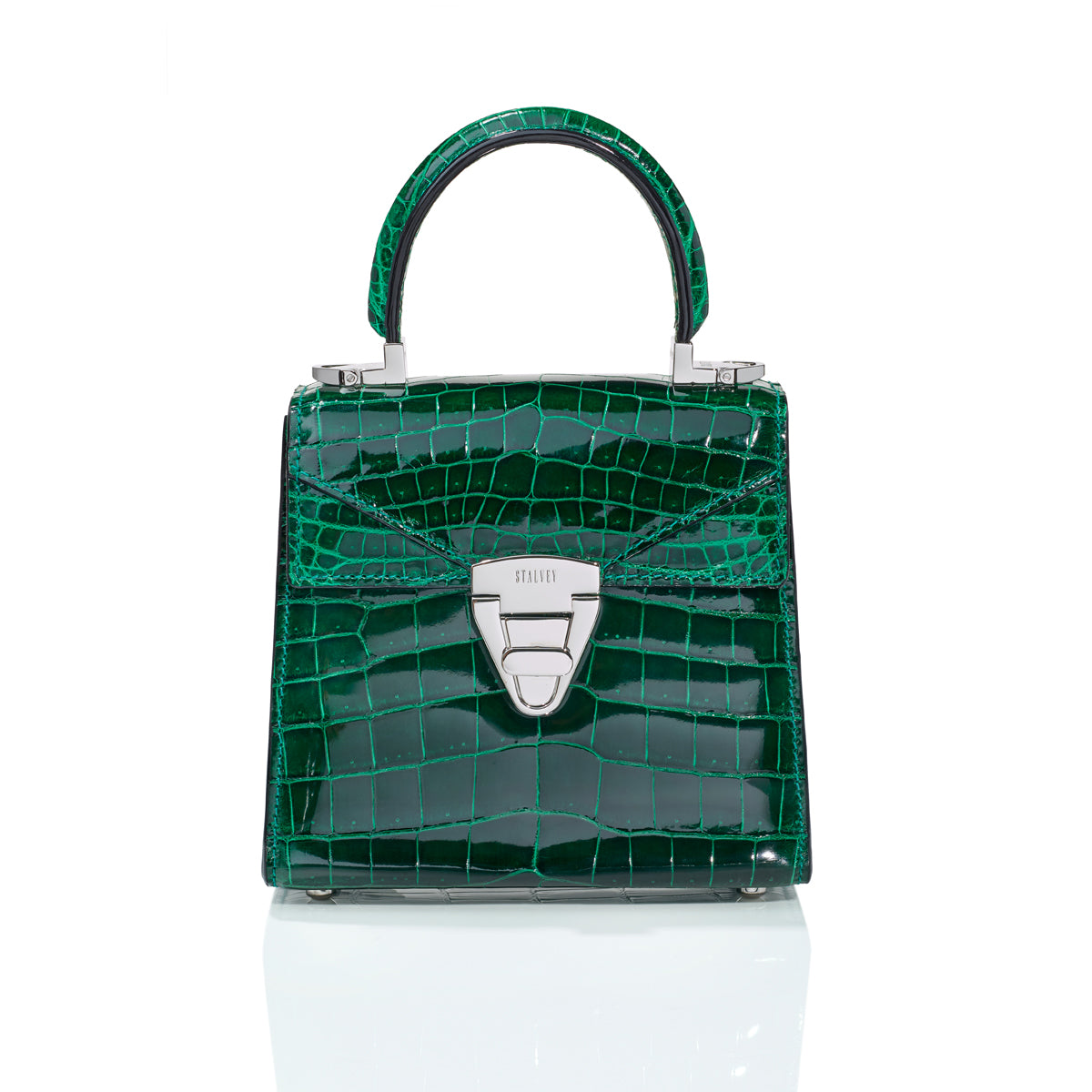 Trapezoid 1.55 Mini - Emerald Green Alligator