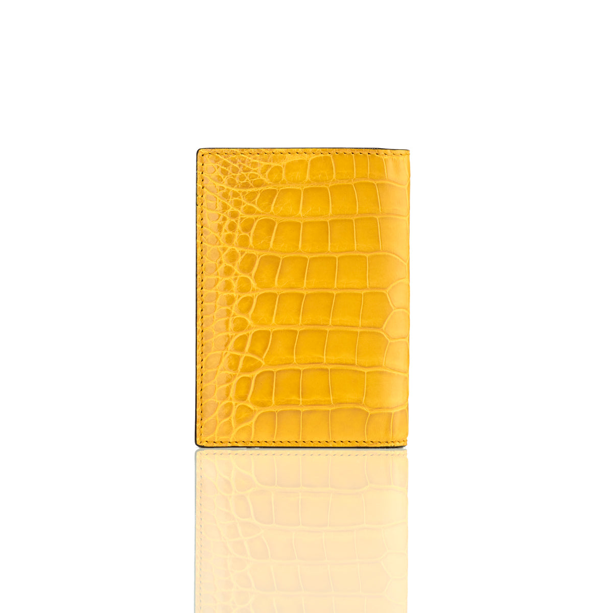 Vertical Bi-Fold Wallet - Lemon Alligator