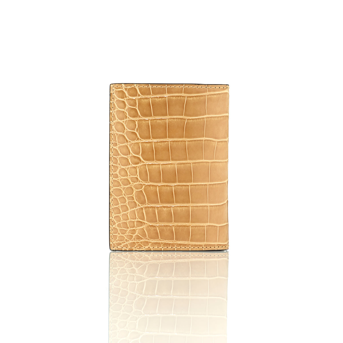 Vertical Bi-Fold Wallet - Sand Dune Alligator