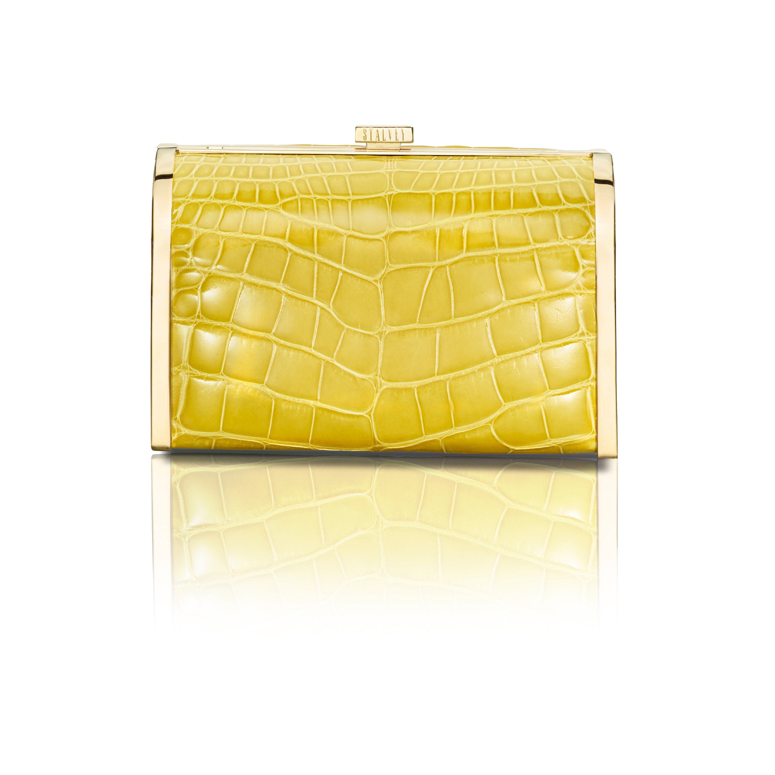 Rounded Clutch - Yellow Alligator