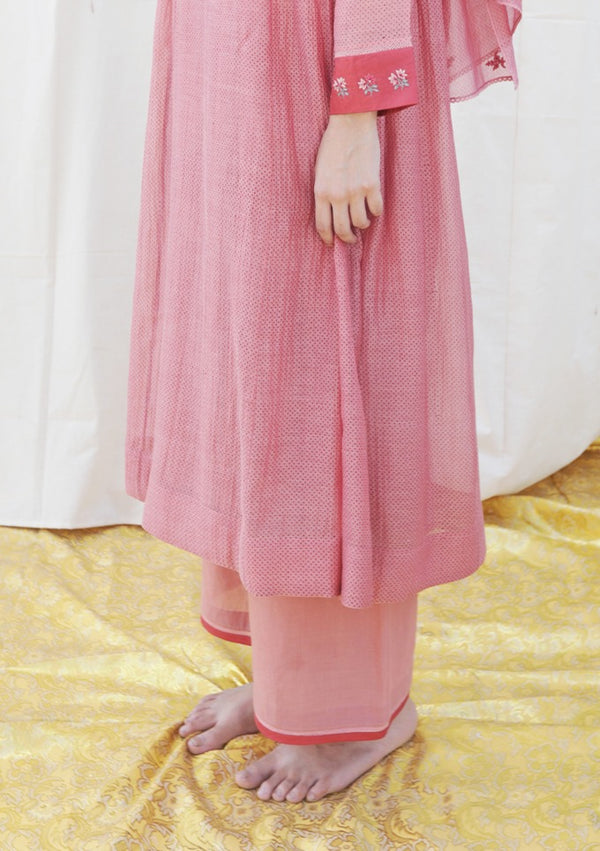 Pink Khadi Cotton Pant