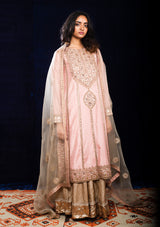 Festive Indian Beige Dupatta with Embroidered Butis