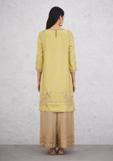 Light Green Apron Kurta with Pants