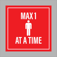 Max. 1 person at a time