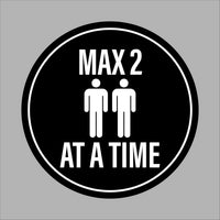 Max. 2 people at a time