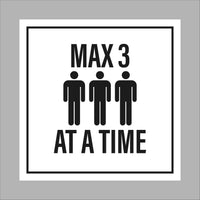 Max. 3 people at a time