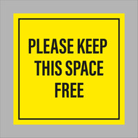 Please keep this space free