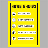 Prevent and protect sticker (200mm x 300mm)