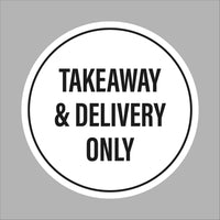 Takeaway and delivery only