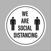 We are social distancing