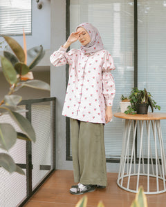 Vinni Top Printed Dusty Cherry