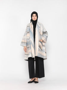 Bilba Printed Outer Dusty Blue