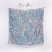 Load image into Gallery viewer, Scarf Marble Series Blue Peach