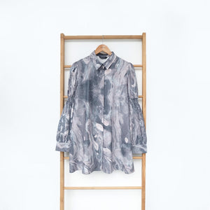 Vinni Top Printed Marble Grey