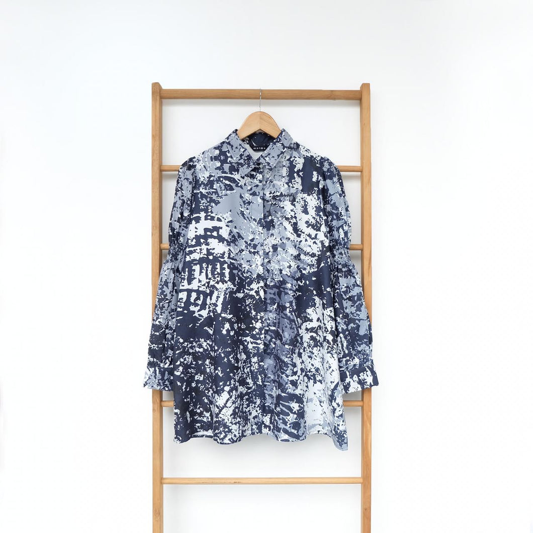 Vinni Top Printed Blue Black