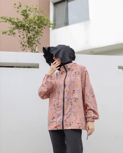 Lite Printed Jacket - Dusty Fleur - Fleur Series